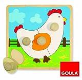 Diset Goula - Puzzle gallina, Piezas de Madera 53066