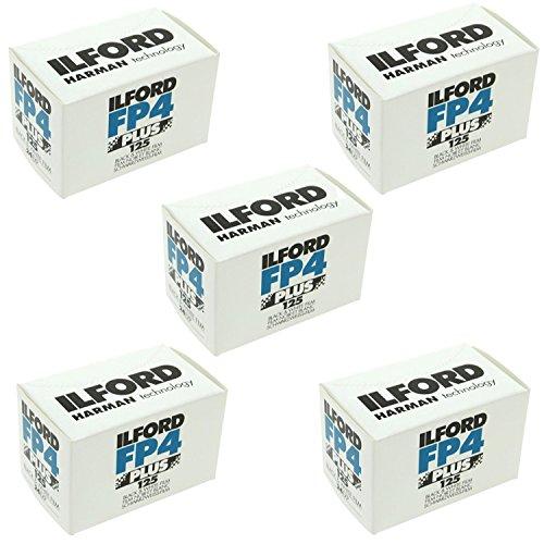 Ilford FP4 Plus, zwart-witafdrukfilm, 135 (35 mm), ISO 125, 24 belichtingen (1700682) 5 stuks