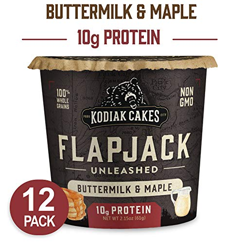 Kodiak Cakes Pancake On the Go, Buttermilk and Maple, 2.15 Ounce (Pack of 12)