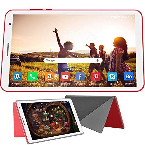 Tablet Android 100 720p 1080p Full HD Display IPS 3 GB RAM 32 GB ROM128 GB erweiterbar Quad Core Type C 5000 mAh Batterie 50MP Kamera Bluetooth Tablet 8 Zoll Rot