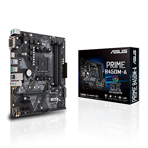 Photo of ASUS Prime B450M-A Micro ATX Motherboard, AMD Socket AM4, Ryzen 3000 Ready, PCIe 3.0, M.2, DDR4, LAN, HDMI, DVI-D, D-Sub, USB 3.1, Aura Sync RGB Header, Black