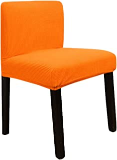 Deisy Dee Stretch Chair Cover Slipcovers for Short Back Chair Bar Stool Chair (orange)