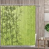 lovedomi Cortina de ducha exótica Bosque tropical selva selva paraíso Eco Feng Shui Spa Decoración de baño Cortina de ducha de tela de poliéster 72 x 72 pulgadas Set de accesorios de baño