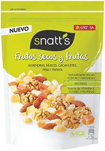 Grefusa - Snatt's   Cocktail de Frutos Secos y Frutas Deshidratadas y Azucaradas - 120 gr