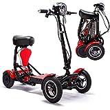 Scooter eléctrico plegable de movilidad eléctrica, ligero plegable para silla de ruedas Handicap Scooter Drive Medical Scout Spitfire 4 ruedas portátil de viaje para adultos mayores