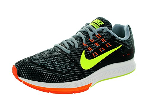 Nike Mens Air Zoom Structure 18 Magnet Grey/Vlt/Blk/Hypr Crmsn Running Shoe 10 Men US