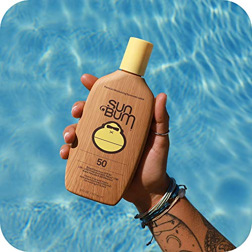 Sun Bum Original SPF 50 Sunscreen Lotion | Vegan and Reef Friendly (Octinoxate & Oxybenzone Free) Broad Spectrum Moisturizing UVA/UVB Sunscreen with Vitamin E | 8 oz
