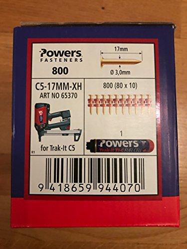 Powers Nägel C5-17MM- XH Gasnagler, Würth DIGA CS-2 , DeWalt ,Powers C5, maxGS73 + Powers Gas