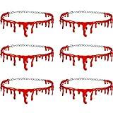 Hicarer 6 Pieces Dripping Blood Necklace Creepy Blood Drip Choker Bleeding Choker for Women Halloween Vampire Cosplay Joke