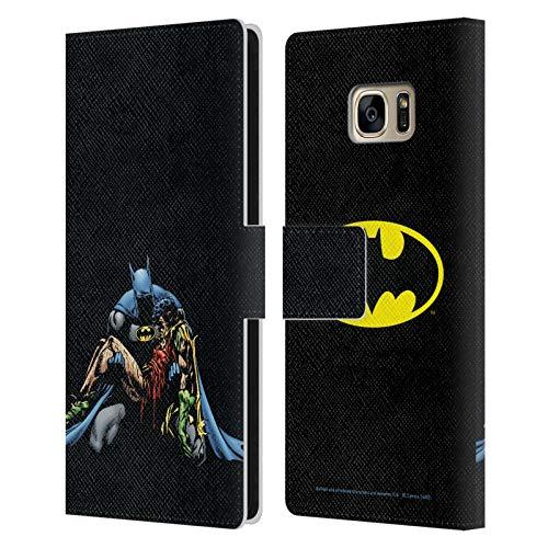 Head Case Designs Offizielle Batman DC Comics Death In The Family Beruehmte Comic Bucheinbaende Leder Brieftaschen Huelle kompatibel mit Samsung Galaxy S7 Edge