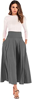 Skirts Women A Line Skirt - Front Slit Belted Maxi Fish Tail Skirt