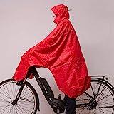 LOWLAND OUTDOOR® Fahrradregenponcho, Rot, One size