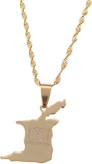 Trinidad and Tobago Map Flag Pendant Necklace Gold Color Trendy Country Map Jewelry Gifts