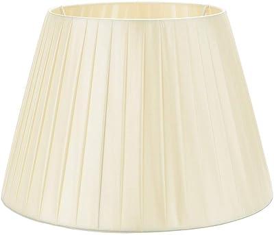Pantalla para lámpara de sobremesa, Tornillo E27 Cubierta de la lámpara de mesa Lámpara de mesilla de noche Accesorios Café Pantalla decorativa para lámpara de mesa Fondo 45cm 17.7 pulgadas,Beige: Amazon.es: Iluminación