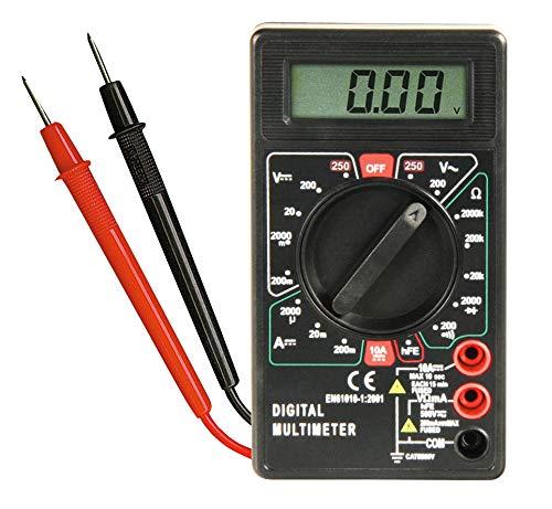 MC POWER - Digital-Multimeter Messgerät | M-330D | schwarz, 3½-stellig, akustischer Durchgangsprüfer