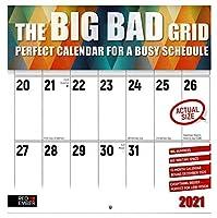 The Big Grid ジャンボ大型プリント – ピラミッドのアート – 2021 壁掛け式カレンダー Red Ember Press – 開いた時12インチ x 24インチ – 厚くて丈夫な光沢紙 – ライティングスペース2倍