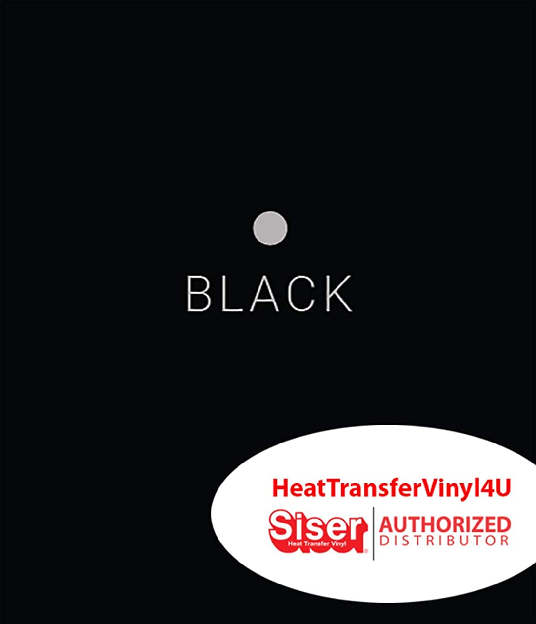 Siser EasyWeed Iron On Heat Transfer Vinyl - 12 inches (Black, 12 Inches by 3 Feet)