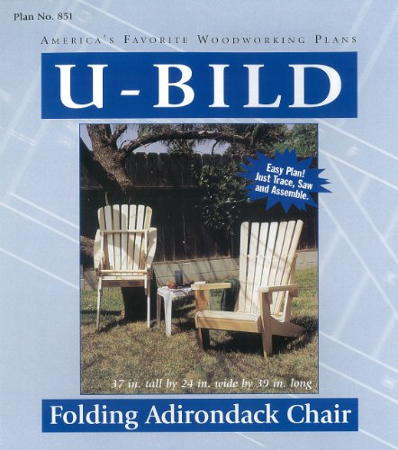 U-Bild 851 Folding Adirondack Chair Rocking Whale Project Plan