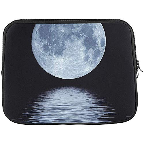Full Blue Moon Over Cold Night Water Sleeve Zachte Laptop Case Bag Pouch