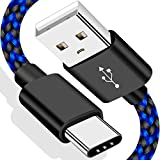 VOTY 【2-Pack 6FT】 USB-C Charger Cable for Motorola Moto G Fast/G Power/G Stylus,Moto G8 G7,G7 Play,G7 Plus,G7 Power G6,G6 Plus X4 Z3 Z2 Play Z Droid Force,Braided USB Type C Charge Charging Cord