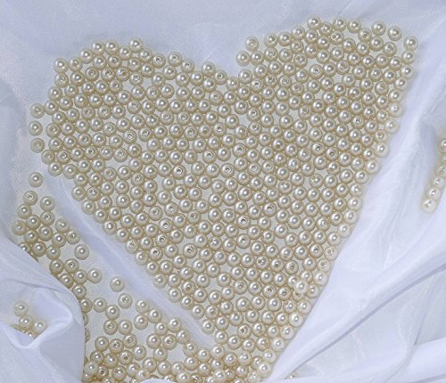 Unbekannt 500 Perlen 8mm Perlmutt Creme Champagner
