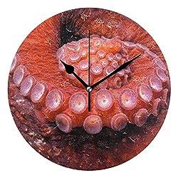 Ladninag Wall Clock Octopus Tentacle Silent Non Ticking Decorative Round Digital Clocks for Home/Office/School Clock