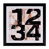 PEÑA VARGAS - Home and Living - Cuadros para Composiciones - Number Marco Negro (30x30)