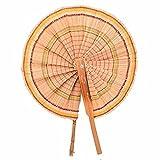 Garden Of Arts Abanicos plegables hechos a mano Ventilador de bambú
