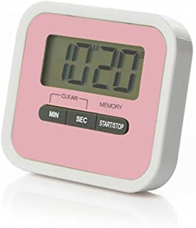 LANGUAN Digital Kitchen Timer,Magnetic Clip and Stand Timer Clock, Large LCD Display Multi-Function Electronic Timer (Pink)