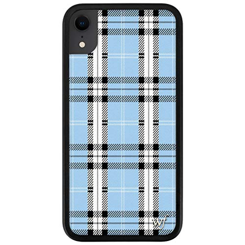 Wildflower Limited Edition Cases Compatible with iPhone XR (Blue Plaid)