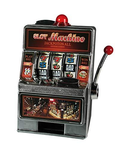 Out of the Blue 69/1228 - Spardose Spielautomat, ca. 19 x 13,5 cm mit Klingel und LED, 2 Mignon Batterien (AA) benötigt