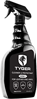 Tyger Tonneau Cover Cleaner & Protectant 2-in-1 Spray Specialized for Leather and Vinyl Surfaces, 22 Fl. oz. Made in USA