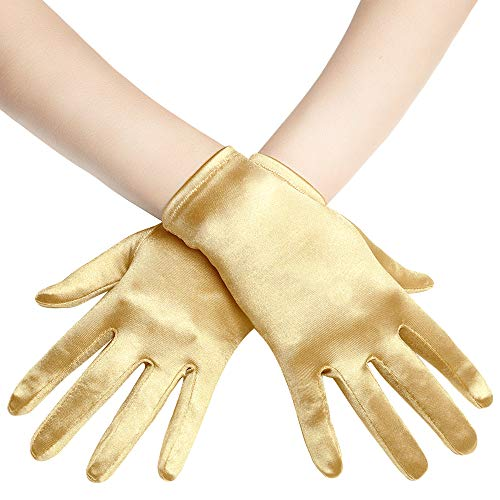 Coucoland Damen Handschuhe Satin Classic Opera Fest Party Audrey Hepburn Handschuhe 1920s Handschuhe...