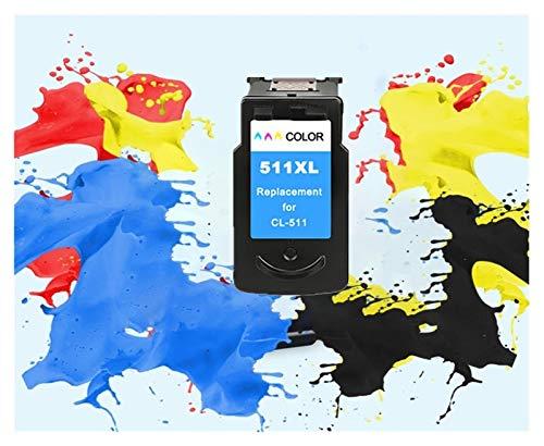 LIUYB Reemplazo PG510 CL511 Cartucho de Tinta aplicable for Canon PG 510 PG-510XL CL 511XL for MP240 MP250 MP260 MP280 MP480 MP490 IP2700MP499 (Color : 1Color 511XL)