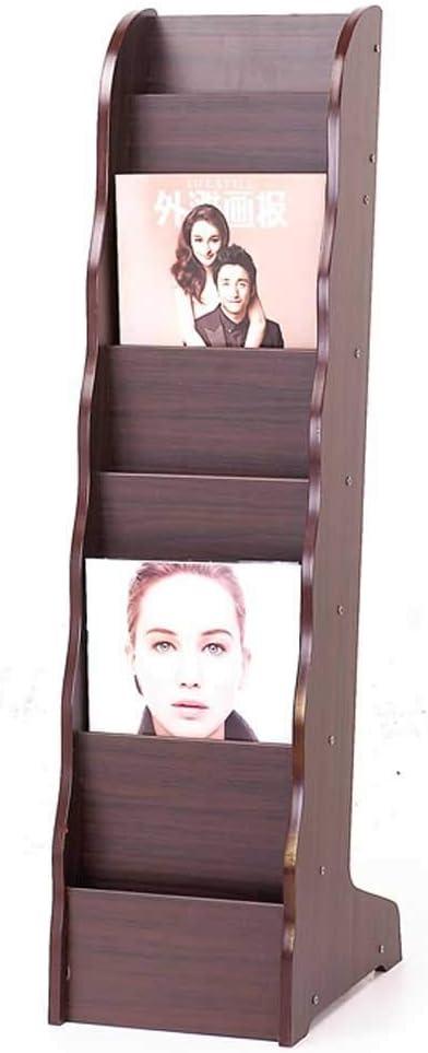 AJZGF Independent Magazine Rack Newspaper Popular products Shelf Max 62% OFF Wooden Informati