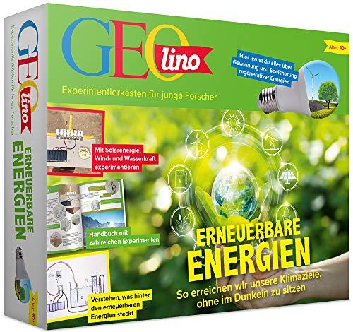FRANZIS 67085 GEOlino Erneuerbare Energien   Mit Solarenergie, Wind- und Wasserkraft experimentieren   Baue Dein eigenes vollfunktionsfähiges Kraftwerk   Ab 10 Jahren