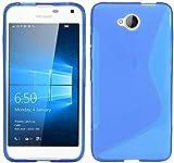 ENERGMiX S-Line TPU SchutzHülle kompatibel mit Microsoft Lumia 650 Silikon Hülle in Blau