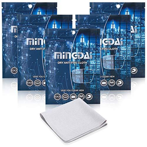 Gamuza antivaho para gafas, reutilizable, antiempañamiento para tabletas, pantallas, ropa para lentes de cámara (5 unidades), color gris