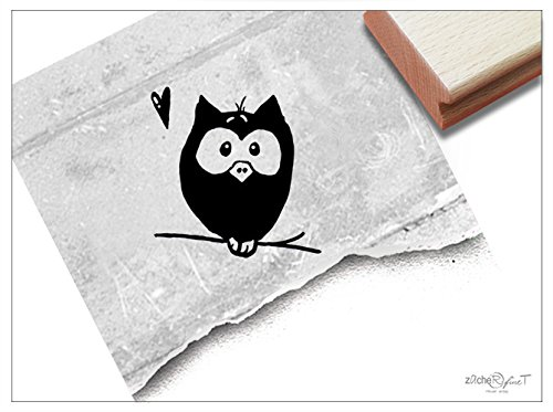 Stempel - Kinderstempel Motiv EULE auf Ast - Bildstempel Motivstempel Geschenk für Kinder - Kita Schule Einschulung Basteln Deko - von zAcheR-fineT