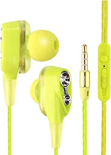 Huphoon 3.5mm Headphones with Mic in-Ear Super Bass Music HiFi Sound Headset Compatible with Cellphone
