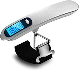 Kueh Portable 50KG/10g Digital Luggage Scale LCD Electronic Hanging Pocket Scale Weight Balance Data Hold Tare Function Auto Power Off
