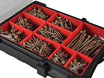 Forgefix ForgeFast Torx® Compatible Wood Screw Organiser Pro 1000 Piece
