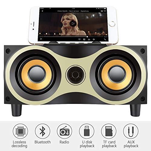 YANGSANJIN Houten Bluetooth luidspreker draagbare draadloze subwoofer sterke bas krachtige soundbox muziek Magic Cube voor smartphone tablet laptop draagbare Bluetooth luidsprekerbox