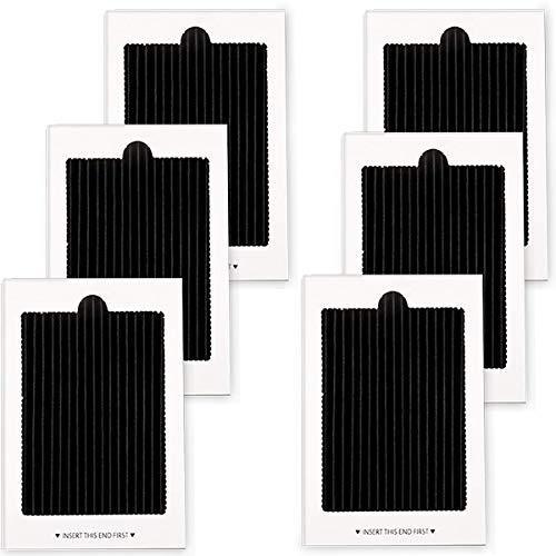 6er-Pack Kühlschrank-Luftfilter, Aktivkohlefilter für SCPUREAIR2PK, EAFCBF Paul 242047801, 242047804