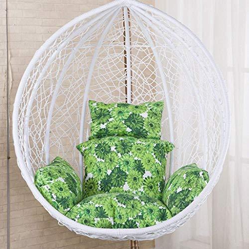 LBBGM Rotin Swing Chair Hanging Garden Patio Chaise d'extérieur intérieure avec Coussin de Support, Jardin (sans Chaise)