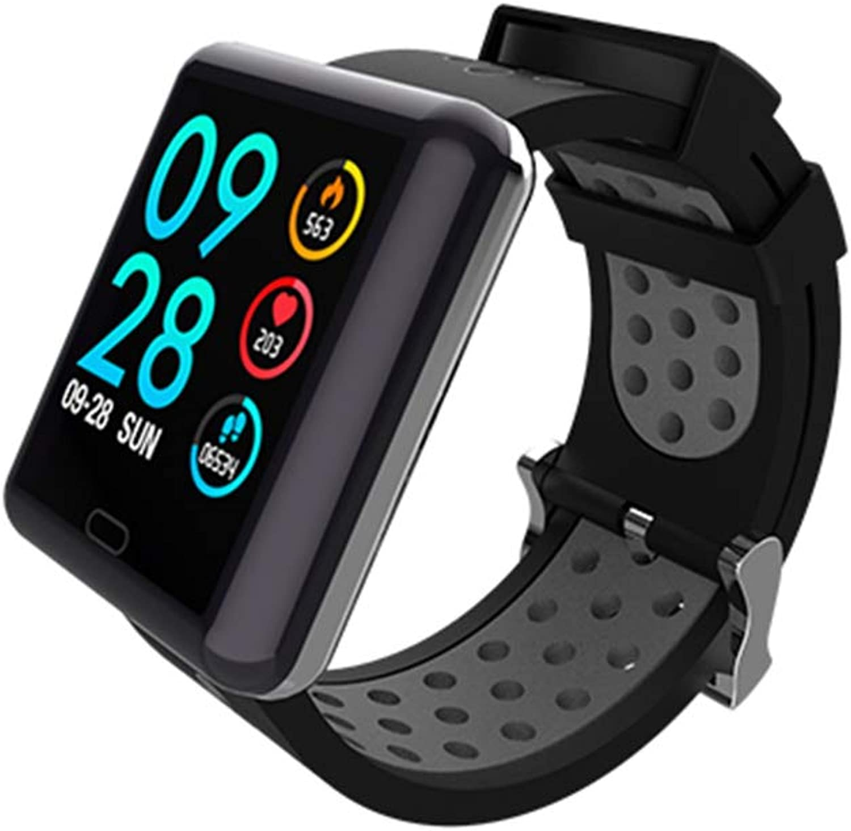 FSN88 Intelligente Sportuhr, Multi-Funktions-Sport-Tracker, Herzfrequenz-Blautdrucküberwachung, Paaruhren, Wasserdichte IP67-Behandlung, Geschenkuhren (2 Stück)