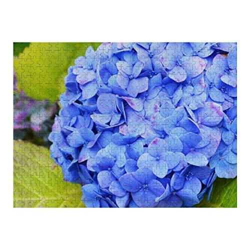 Blue Hydrangea Flower Rompecabezas de 1000 Piezas para Adultos y familias, Rompecabezas clásico con Motivos Finos, colección de Arte, 50 x 75 cm