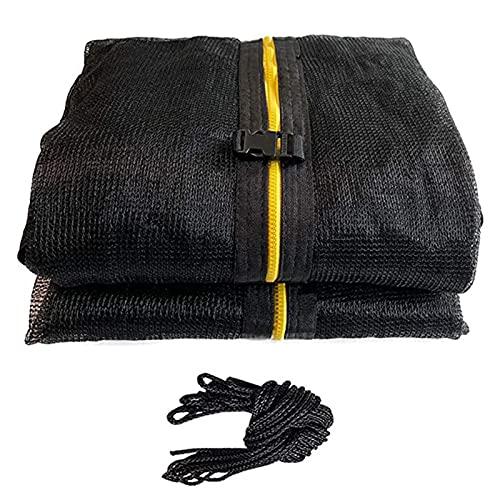 Kaijia Red de seguridad para trampolín de repuesto, transpirable, apta para marcos redondos, fácil de instalar