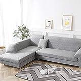 flqwe Sofá Protector Decorativo Extensible,Funda de sofá de Esquina elástica...