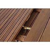 Siena Garden Ausziehtisch Falun Akazienholz geölt in natur Tischplatte - 11